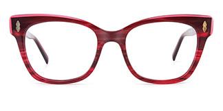 C1058 miriam Rectangle red glasses
