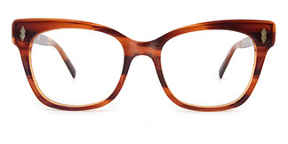 C1058 miriam Rectangle tortoiseshell glasses