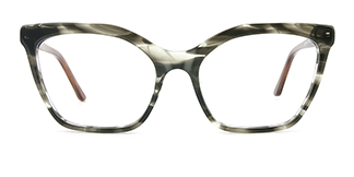 C1077-1 nancy nan Cateye grey glasses