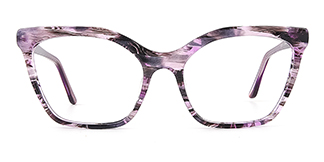 C1077-1 nancy nan Cateye purple glasses