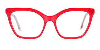 C1077-1 Nanna Cateye red glasses