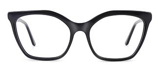 C1077 monica Cateye black glasses