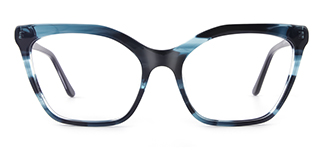 C1077 monica Cateye blue glasses