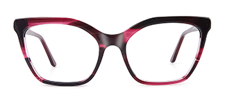 C1077 monica Cateye red glasses