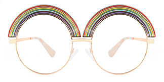 C108 Lucy Round multicolor glasses