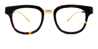 C77001 Amalie Rectangle tortoiseshell glasses