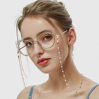 WHITE PEARL GLASSES CHAIN