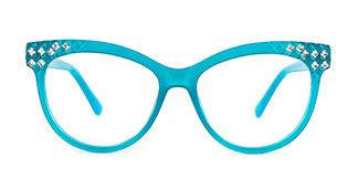 DTL016 Raeleigh Cateye green glasses