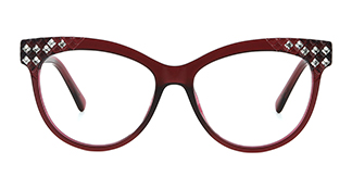 DTL016 Raeleigh Cateye red glasses