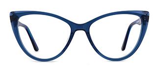 DW78 Annelise Cateye blue glasses
