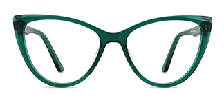 DW78 Annelise Cateye green glasses