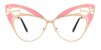 E1135 Angelique Cateye pink glasses
