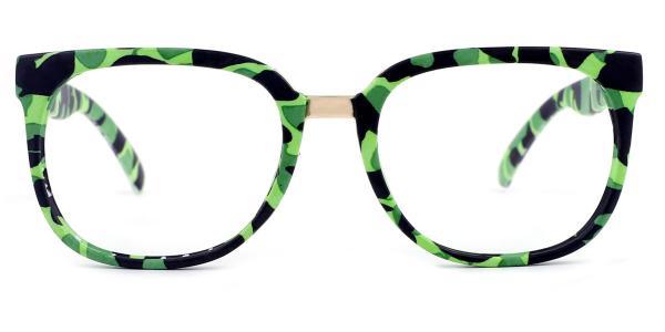 F062 Sophie Rectangle green glasses