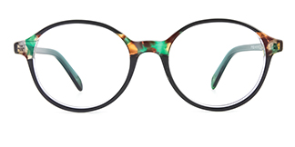 F1825-1 Hulda Round green glasses