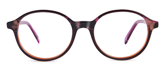 F1825-1 Hulda Oval purple glasses