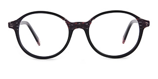 F1825 editha Oval black glasses