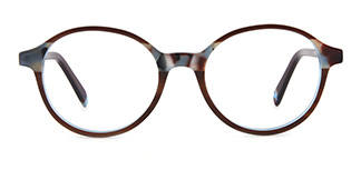 F1825 editha Round brown glasses