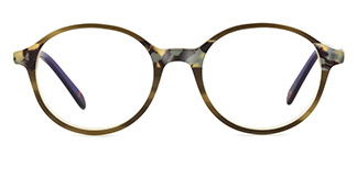 F1825 editha Round green glasses