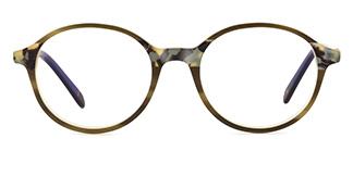F1825 editha Round tortoiseshell glasses