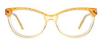 F1829 vickyvictoria Cateye yellow glasses