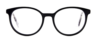 F2137 Grselda Oval black glasses