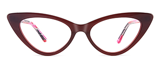 F2151 philomena Cateye brown glasses