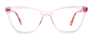 F2163 polly Cateye pink glasses