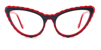 F2226-1 erica Cateye red glasses
