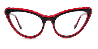 F2226 elsa Cateye red glasses