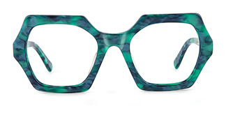 F4531 Darci Geometric green glasses
