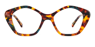 F4534 Dalit Geometric floral glasses