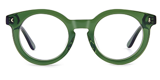 F4535 Danette Round green glasses
