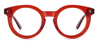 F4535 Danette Round red glasses