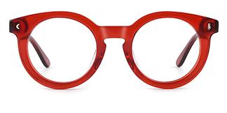 F4535 Danette Round red glasses