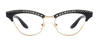 G0153 Amabel Cateye black glasses