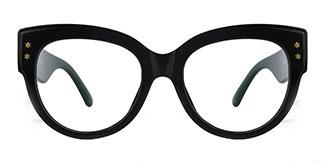 G3864 Becky Cateye black glasses