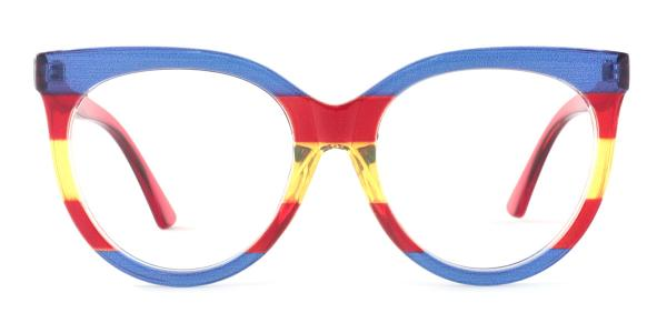 GG0179S Roxie Oval red glasses