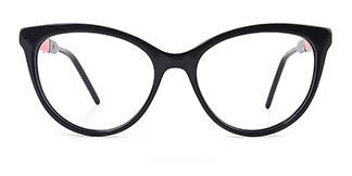 H0054 quentina Cateye black glasses