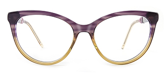 H0054 quentina Cateye purple glasses