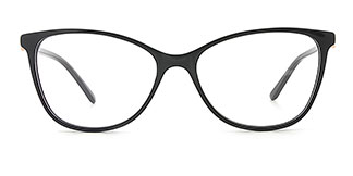 H0380 STACY Rectangle black glasses