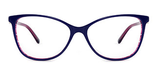 H0380 STACY Rectangle blue glasses