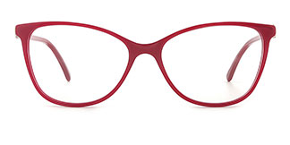 H0380 STACY Rectangle red glasses