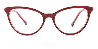 H0534 SHERRY Cateye red glasses