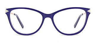 H0537 Sharon Rectangle blue glasses