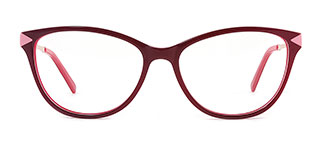 H0537 Sharon Rectangle purple glasses