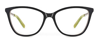 H0548 Tracy Rectangle black glasses