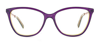 H0548 Tracy Rectangle purple glasses