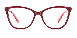 H0548 Tracy Rectangle red glasses
