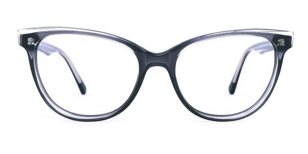 H10244 Essie Oval black glasses