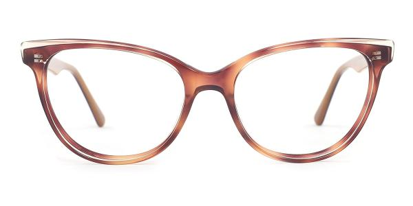 H10244 Essie Oval brown glasses
